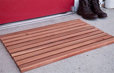 wooden doormats how to make a diy wooden welcome mat welcome mats mid