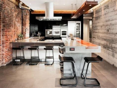 cuisine en noir et blanc idée relooking cuisine cuisine industrielle en noir et
