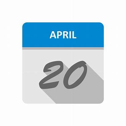Calendar 20th August Date April 24th Single