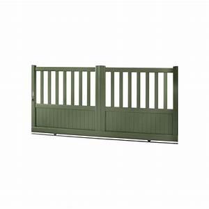 Portail Alu Coulissant 3m : portail coulissant en aluminium basae largeur 3m roy ~ Edinachiropracticcenter.com Idées de Décoration