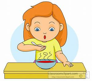Girl Eating Lunch Clipart (24+)