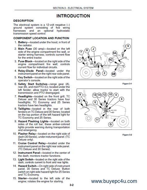 holland tc tcd tractor service manual