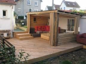 Terrasse Avec Palette : terrasse en palette sur dalle beton ~ Melissatoandfro.com Idées de Décoration