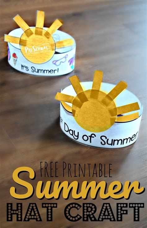 day  summer printable hat  super cute