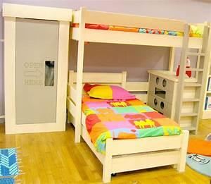 Lit enfant mezzanine mathy by bols secret de chambre for Tapis chambre enfant avec avis matelas epeda le secret