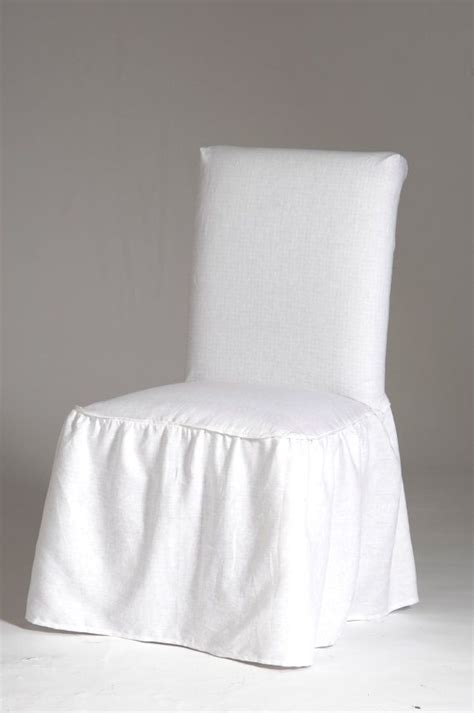 elegant linen ruffled dining chair cover  bow tie