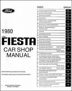 1980 Ford Fiesta Repair Shop Manual Original