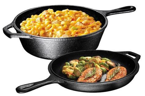 iron cast cookware seasoned sets cooker skillets bruntmor combo ultimate pre pot pans