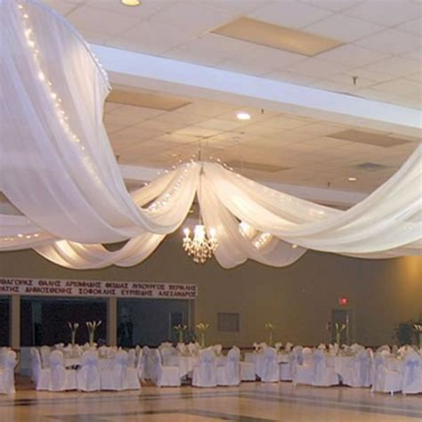 How To Hang Ceiling Drapes For Events - 6 panel ceiling draping kit hardware only
