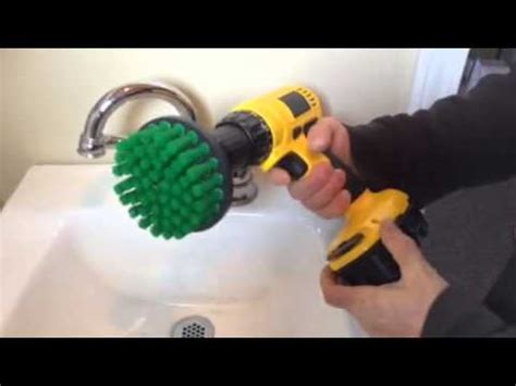 scrub brush  sink  bathroom tile scrubbing rotary