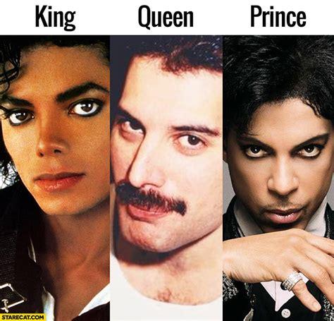 michael jackson king freddie mercury queen prince