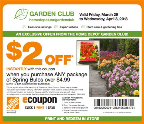 the home depot canada coupon save 2 on any package of