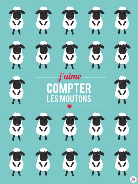 chambre p biscuit affiche enfant quot je compte les moutons quot illustrations