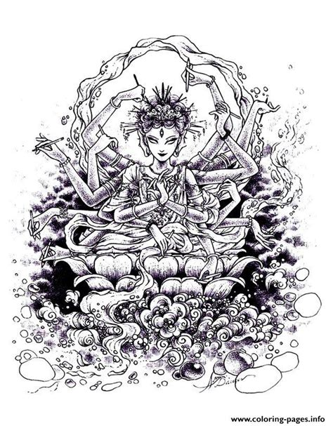 adult zen anti stress india drawing coloring pages printable