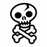 Skull Crossbones Bones Coloring Pages Cross Template Clipart Getcoloringpages Clipartmag Templates sketch template
