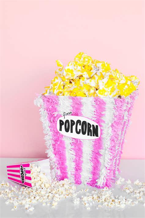 diy popcorn pinata studio diy