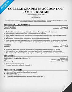 college graduate accountant resume sample resume samples With college graduate resume template