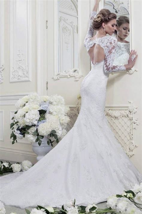 custom made wedding dresses fashion white ivory mermaid sleeve lace wedding dresses custom made 2014 2160145 weddbook