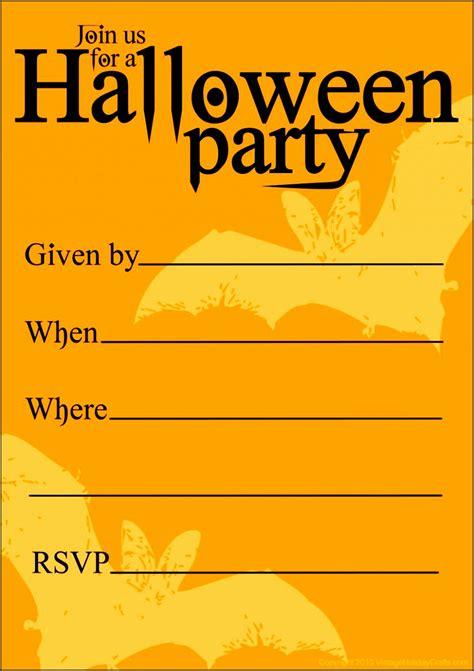 halloween invitation templates  email