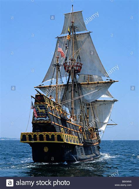 tall ship golden hind usa stock photo  alamy
