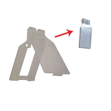 porta etichette porta etichette in plastica apribile per gancio doppio