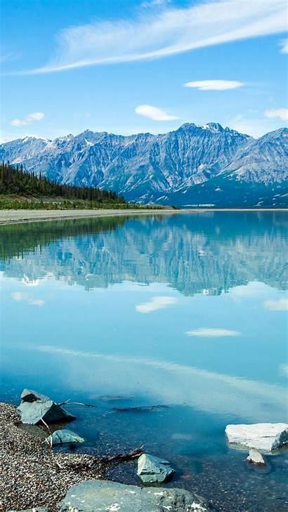 4k Lake Nature Shore Mountains Wallpapershome Wallpapers