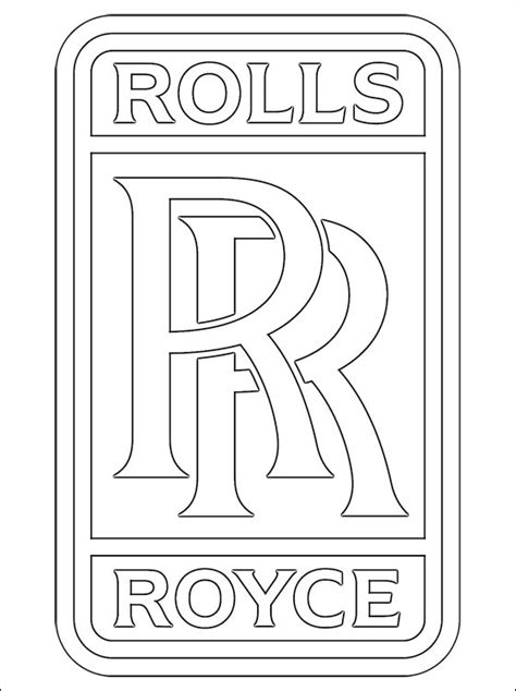 rolls royce logo drawing rolls royce coloring page coloring pages