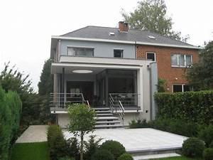 transformation dune maison 3 facades a braine lalleud With transformation garage en logement