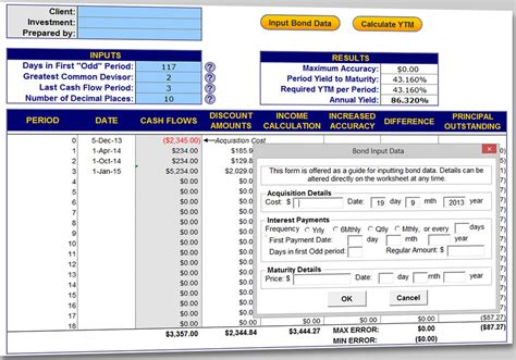 bond yield  maturity calculator