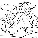 Coloring Mountains Pages Comments Mountaineer sketch template