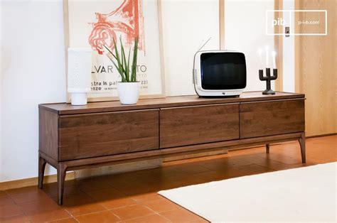 meuble tv en noyer hem 235 t grand format tiroirs coulissant