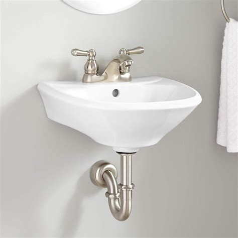 Top Mounted Bathroom Sinks by Farnham Mini Porcelain Wall Mount Bathroom Sink In 2019