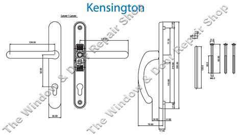 Kensington 92mm Pz Lever/lever Door Handle By Fab & Fix