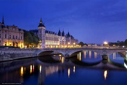 Paris Conciergerie France Justice Night Desktop Bridge