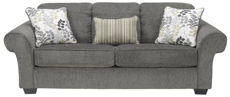 signature design by ashley makonnen charcoal queen sofa