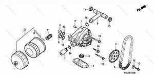 Honda Motorcycle 2006 Oem Parts Diagram For Oil Pump