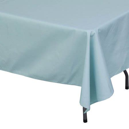 Light Blue Tablecloth by Polyester Rectangle Tablecloth Light Blue Walmart