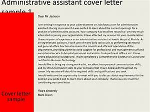 Administrative assistant cover letter for Executive assistant cover letter 2014