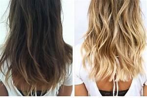 Ombré Hair Blond Foncé : brune avec balayage blond alsp ~ Nature-et-papiers.com Idées de Décoration