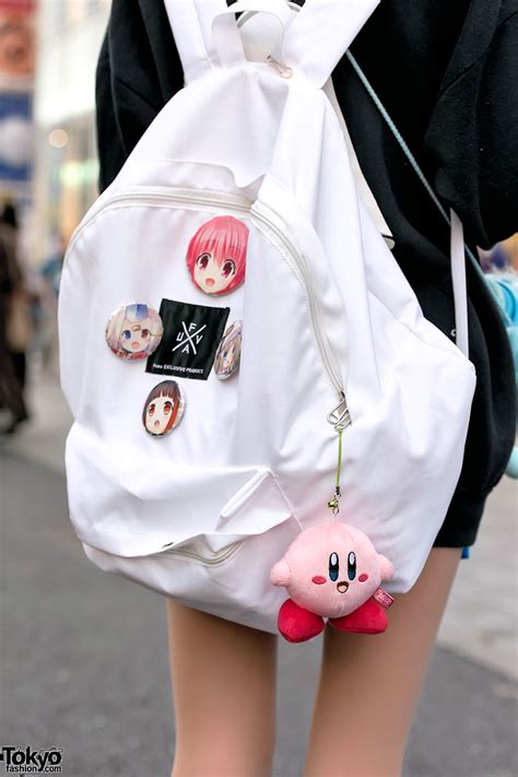harajuku girls  oversized sweatshirts manga pins nesin