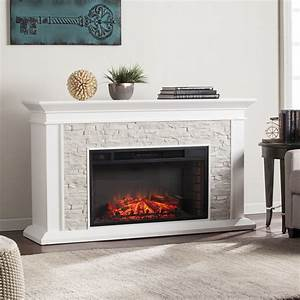 """60"""" Canyon Heights Simulated Stone Electric Fireplace ..."""