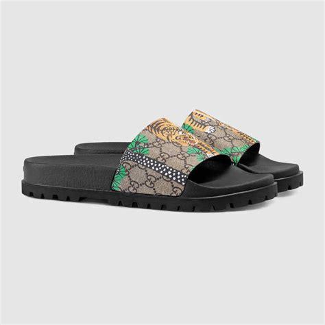 sandal guccy gucci bengal slide sandal gucci gg supreme bengal slide