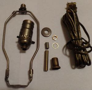 Table Lamp Wiring Kit Antique Finish Harp Pushthru