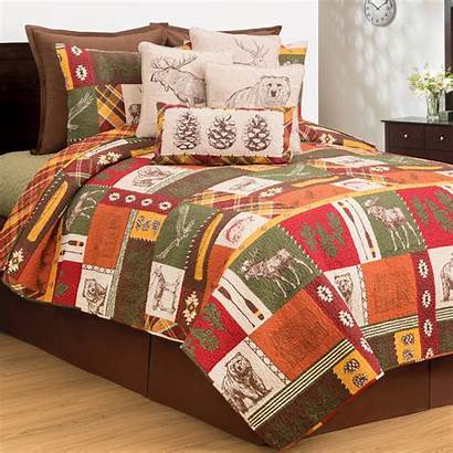 Quilt Colorful Queen Cabin King