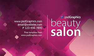 Beauty salon business card template psdgraphics for Salon business cards templates free