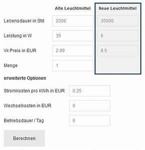 Led Verbrauch Berechnen : led ersparnis berechnen ~ Themetempest.com Abrechnung