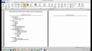 Creating A Website Outline And Site Diagram