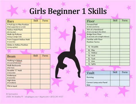 list of beginner skills pk level pre k gymnastics 897 | fe868be0b8bf5ce7af98a5857a29d83a gymnastics skills gymnastics stretches