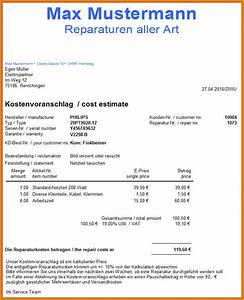 8 reparatur kostenvoranschlag muster sponsorshipletterr for Kostenvoranschlag reparatur muster