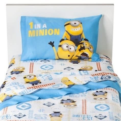despicable me one in a minion 3 piece cotton rich sheet
